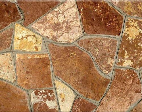 ΡΟΥΜΑΝΙΑΣ,  ΚΟΚΚΙΝΟ - Ακανόνιστη πέτρα για δάπεδο - Φυσικά Πετρώματα