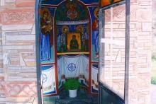 Εσωτερικό πέτρινης εκκλησίας